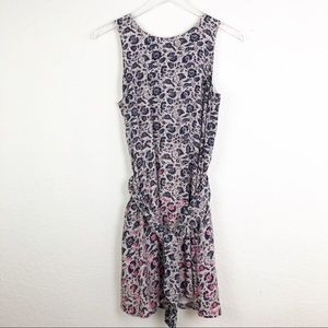 Gap | Floral Tie Waist Sleeveless Dress Medium
